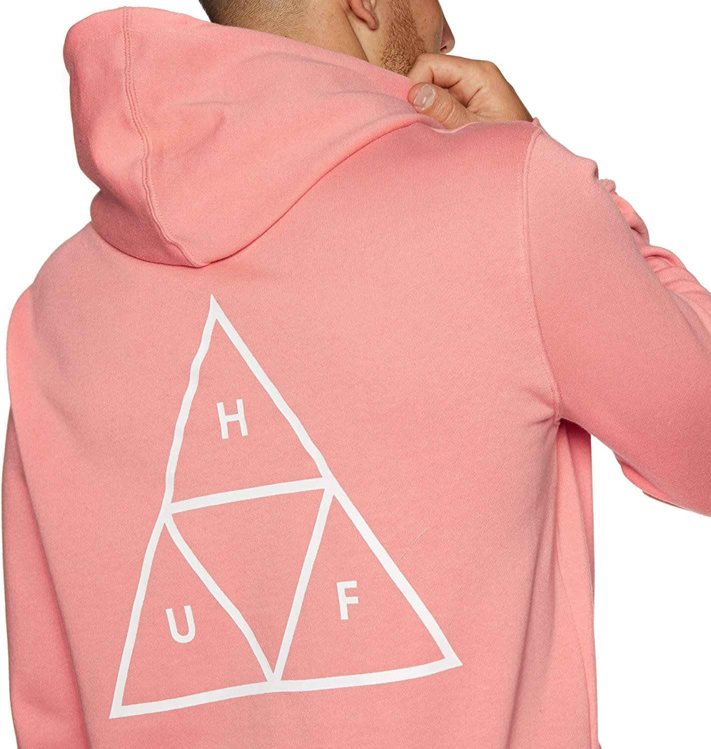 HUF Men's Essentials Tt P/O Hoodie Hooded Sweatshirt Coral Haze