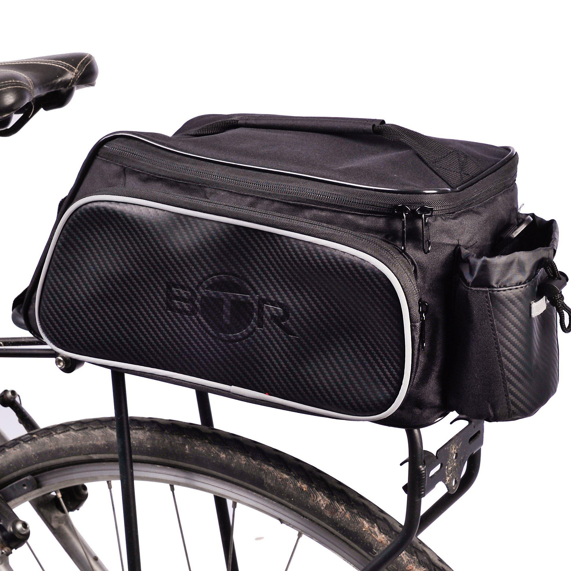 BTR Bolsa para Bici diseñada para el portaequipajes Trasero de la Bicicleta. Impermeable. Negra