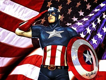 Posterhouzz Comics Captain America Marvel Hd Wallpaper Background