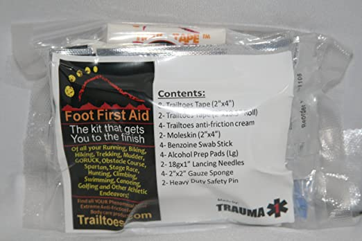 Blister Medic Kit Moleskin Runners Hikers Foot First Aid 2 Pack