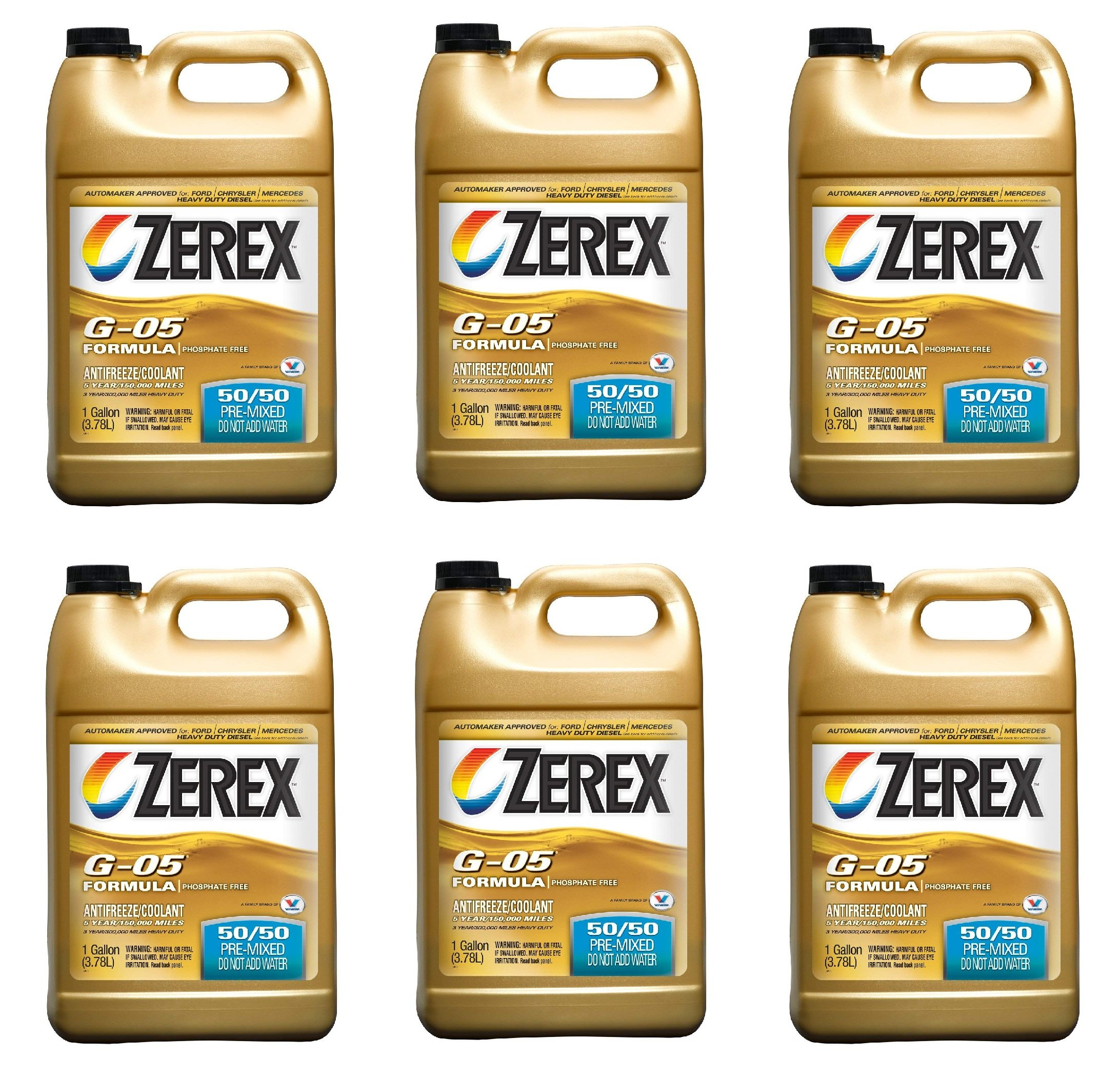 Zerex G-05 Antifreeze/Coolant, Ready to Use - 1gal (ZXG05RU1) (6)