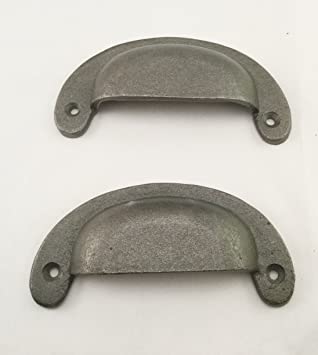 Victorian Cast Iron Cup Pull Handle Rustic Cabinet Kitchen Drawer Handle 6 Pcs