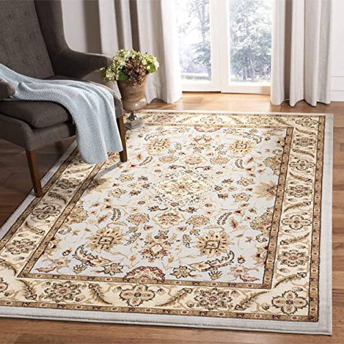 Safavieh Lyndhurst Collection LNH211G Traditional Oriental Grey and Beige Rectangle Area Rug 8 11 x 12