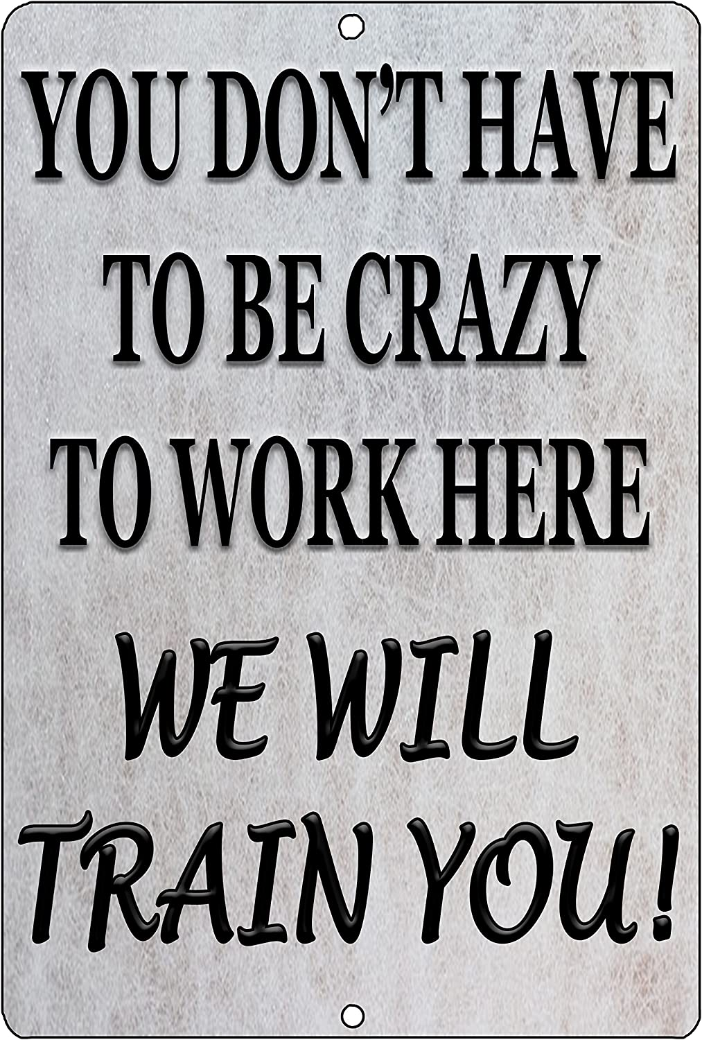 Rogue River Tactical Funny Work Office Retail Metal Tin Sign Wall Decor Bar Boss Employee Coworker Crazy We Will Train