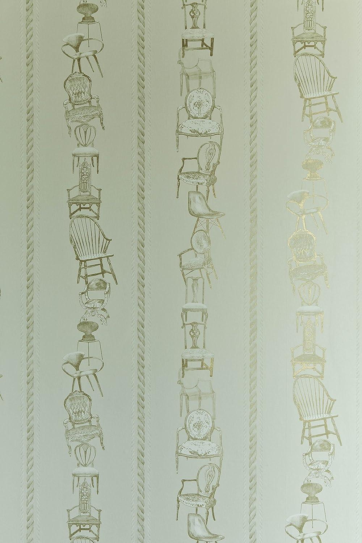 Chairs Wallpaper - Eau de Nil: Amazon co uk: Kitchen & Home