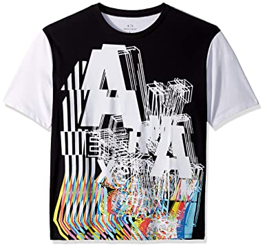 ff92be1c53e Amazon.com: A|X Armani Exchange Men's City Vibe Graphic Tee: Clothing