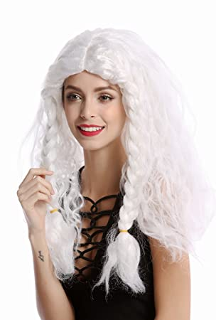 WIG ME UP ® - 91154-ZA68/ZA62 Peluca Mujer Hombre Carnval Halloween Trenzas
