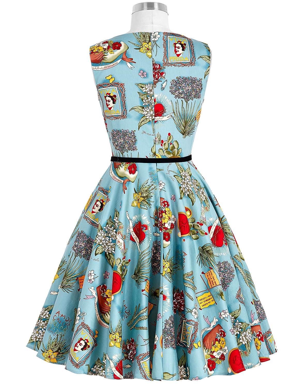 Grace Karin® 1950s Vintage Cocktail Swing Party Dresses: Amazon.co ...