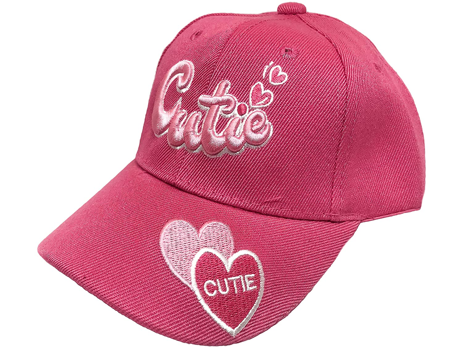 Black Duck Brand Girls Embroidered Cutie Baseball Hat//Cap Availabe in Multiple Colors