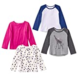 Amazon Price History for:Spotted Zebra Girls' 4-Pack Long Sleeve T-Shirt