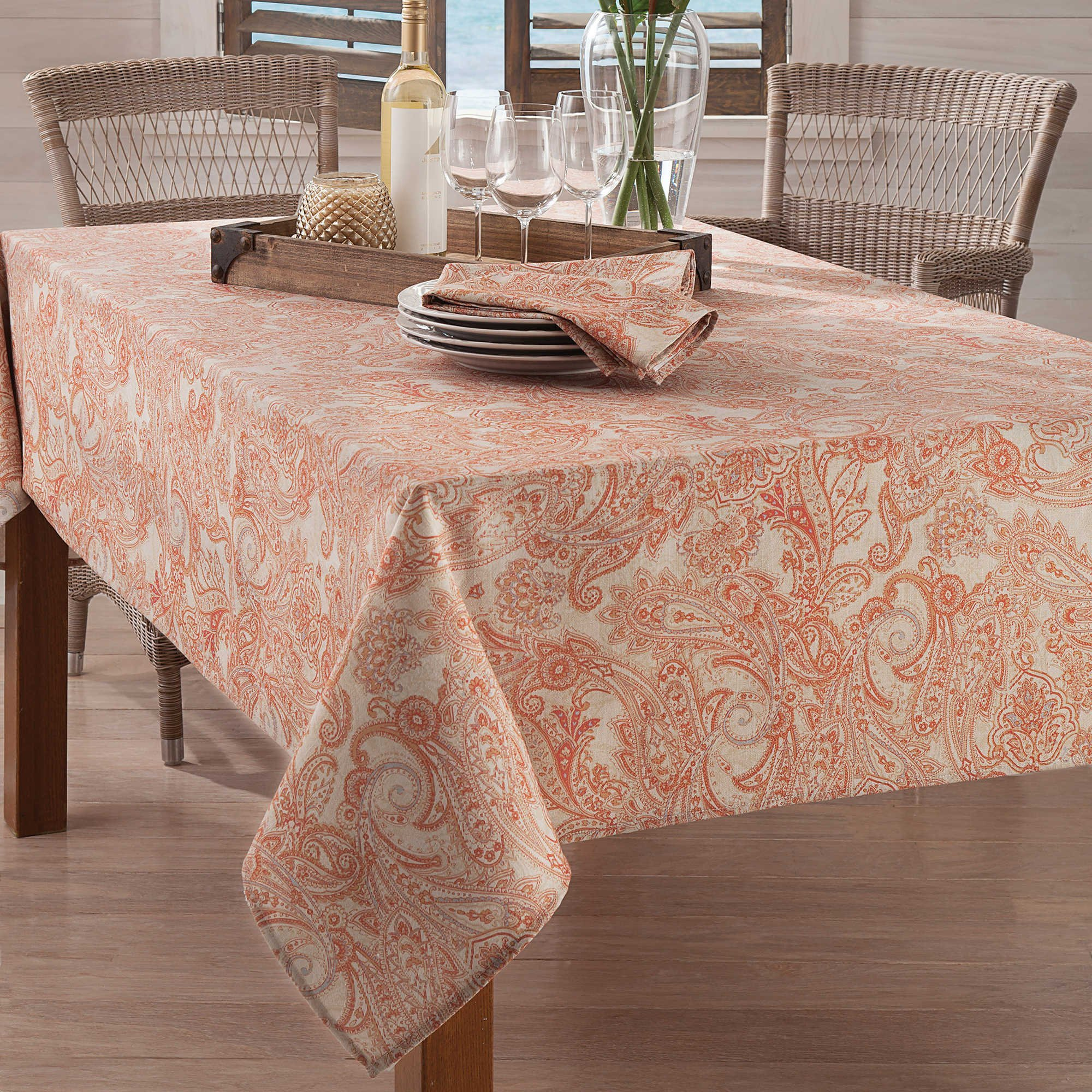 Tommy Bahama East India Paisley Tablecloth - 52'' x 70''