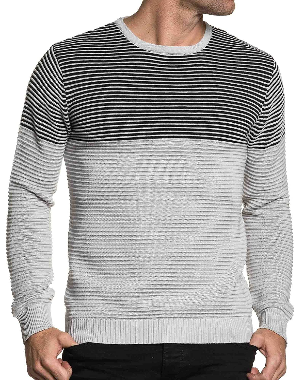 BLZ jeans - gray and white man sweater terrain mesh