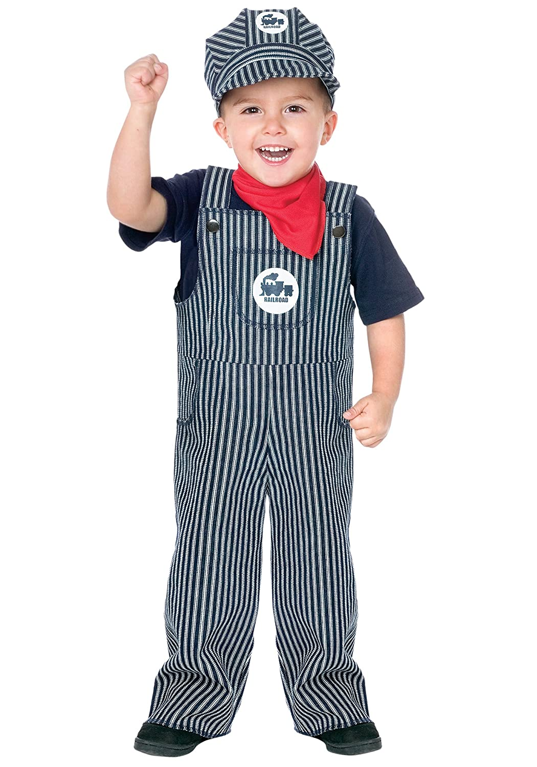 fc083fb95c Amazon.com  Fun World Costumes Baby s Train Engineer Toddler Costume   Clothing
