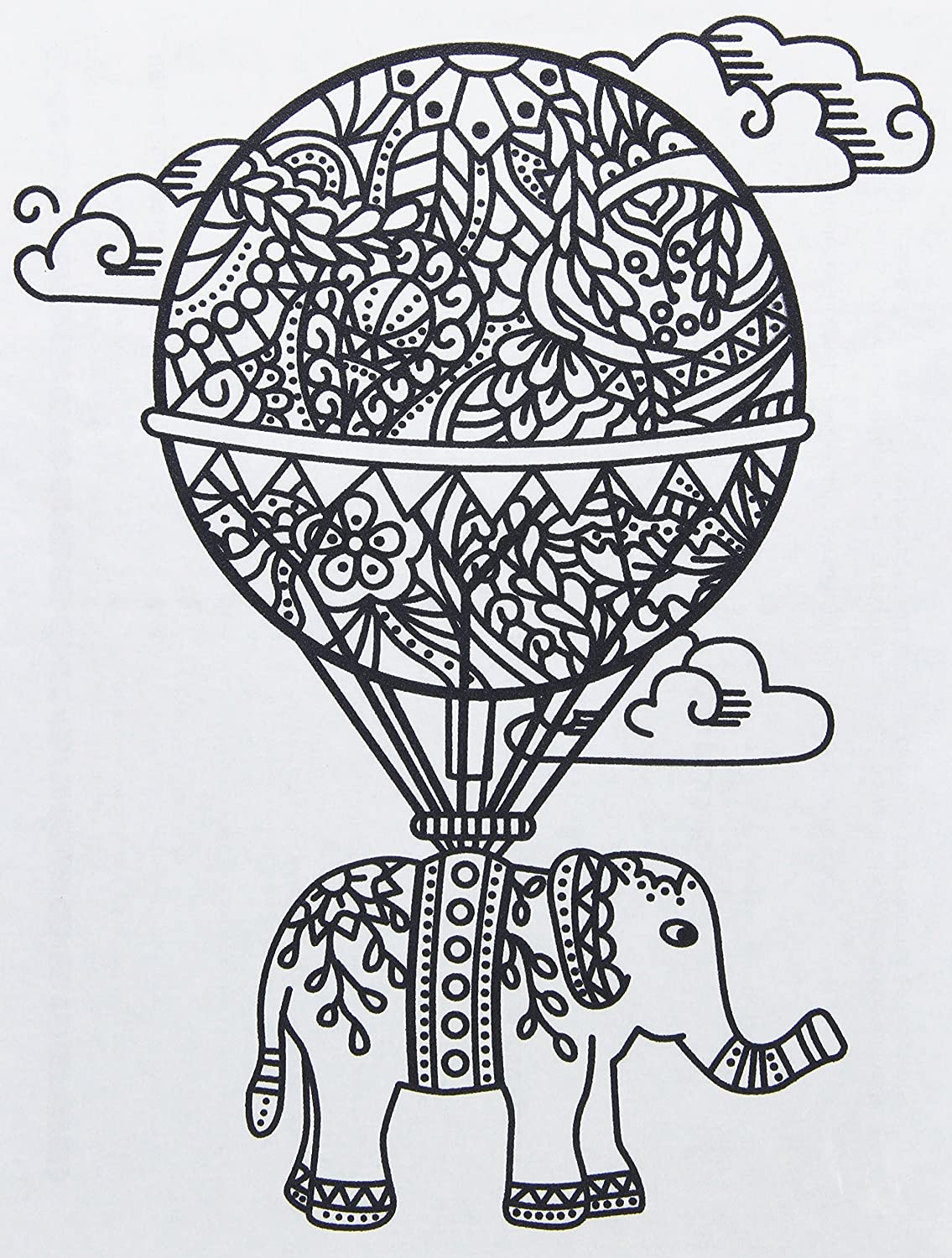 Zendoodle Iron On Transfers Balloon/Elephant Giraffe Crafts 28108