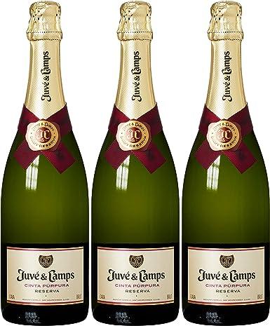 Juvé & Camps - Cava Cinta Púrpura Brut Reserva - Pack de 3 Unidades: Amazon.es: Alimentación y bebidas