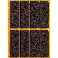 haggiy® Filzgleiter, selbstklebend, eckig, 15x45mm, braun (8 Stück)