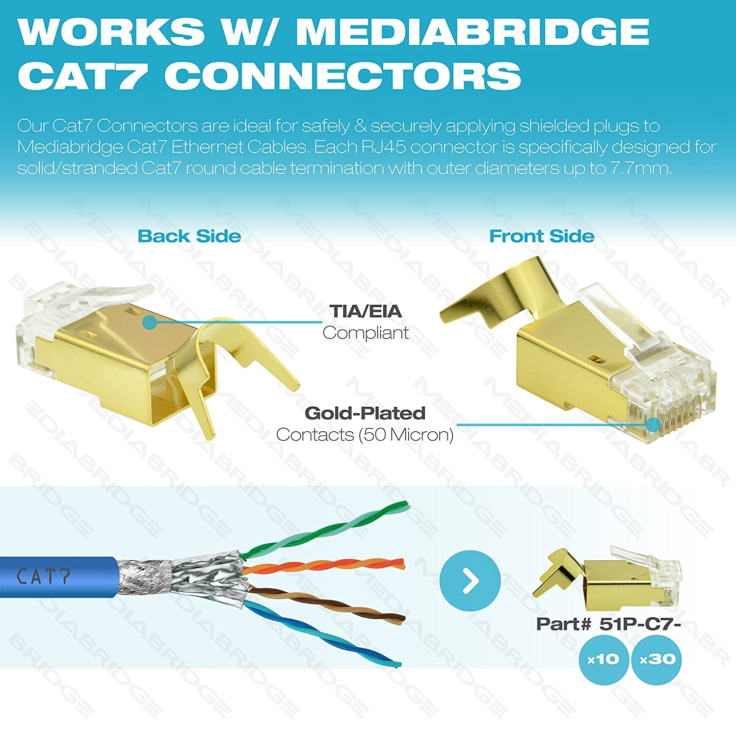amazon com mediabridge solid copper cat7 ethernet cable (1000 on Network Wiring Diagram for amazon com mediabridge solid copper cat7 ethernet cable (1000 feet, blue) low smoke zero halogen jacket (part c7 1000 blue ) computers & accessories at Cat 6A Wiring-Diagram V
