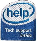 [ ワッペン屋Dongri ] help tech support inside パロディ ベルクロワッペン A0150