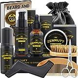 Beard Growth Kit,Beard Kit,Beard Grooming Kit w/Beard Foam,Beard Conditioner,Beard Growth Oil,Beard Balm,Brush,Comb,Scissor,S