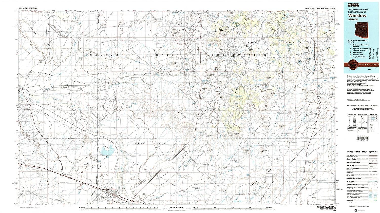 Amazon Com Yellowmaps Winslow Az Topo Map 1 100000 Scale 30 X 60