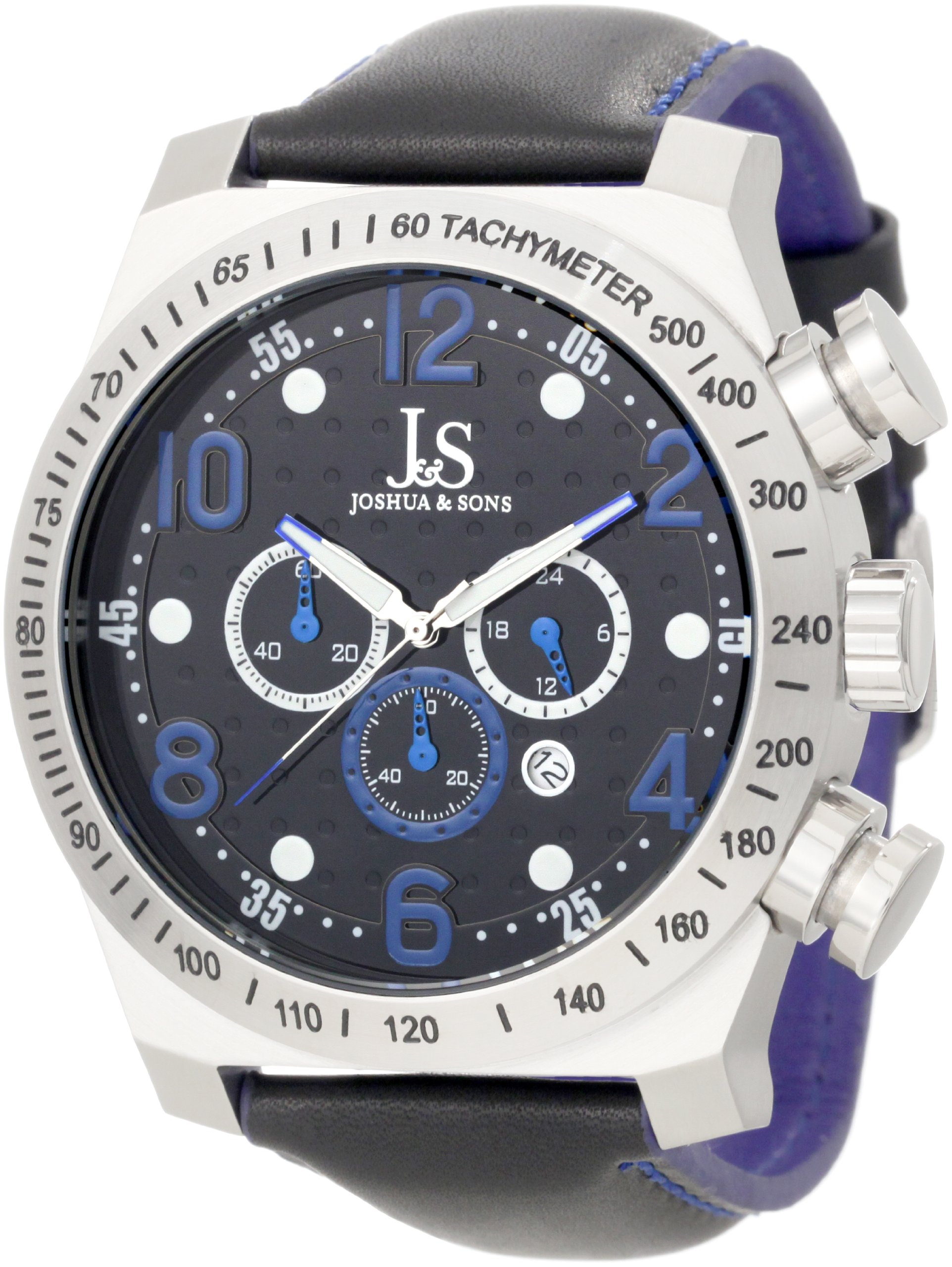 Joshua & Sons Men's JS-14-BU Chronograph Stainless Steel Sports Watch by Joshua & Sons
