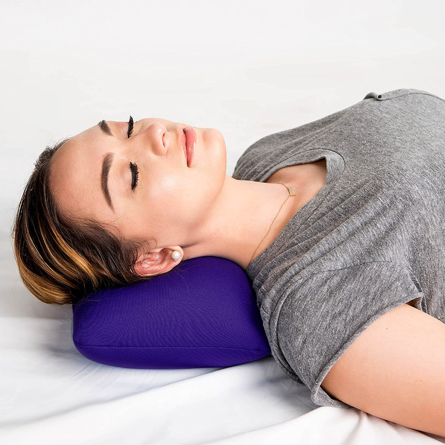 Purple Cushie Pillows 11 inches x 8 inches x 6 inches Microbead Bolster Squishy//Flexible//Extremely Comfortable Pillow