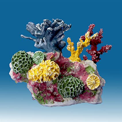 06a6044c17e Instant Reef DM012 Artificial Coral Inserts Decor, Fake Coral Reef  Decorations for Colorful Freshwater Fish Aquariums, Marine and Saltwater  Fish Tanks
