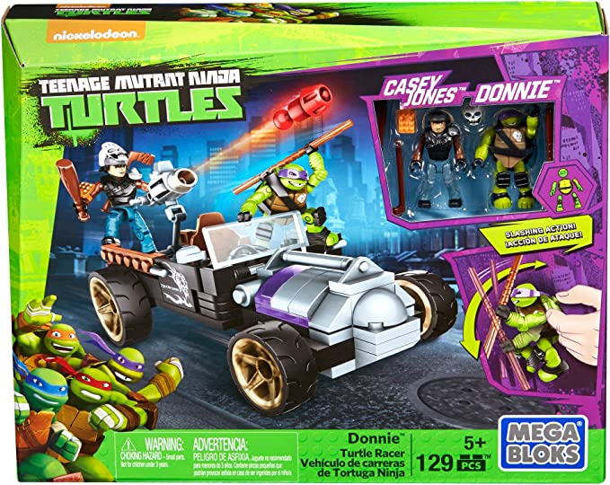 Teenage Mutant Ninja Turtles Donatello Racers Pizza Kart Slash MEGA BLOKS
