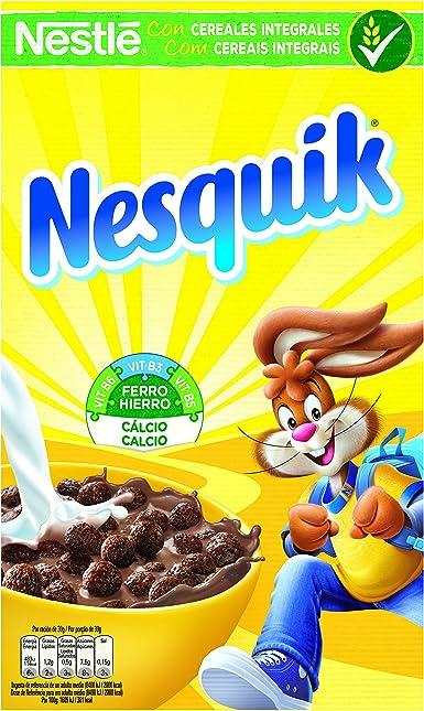 Nesquik Cereales de trigo, maz y arroz tostados al chocolate - 625 gr - [ Pack de 2]: Amazon.es: Alimentación y bebidas