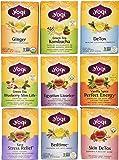 Yogi Tea Favorites - Best-Selling 9 Flavor Variety Pack - 16 Tea Bags in Each Box (Pack of 9)