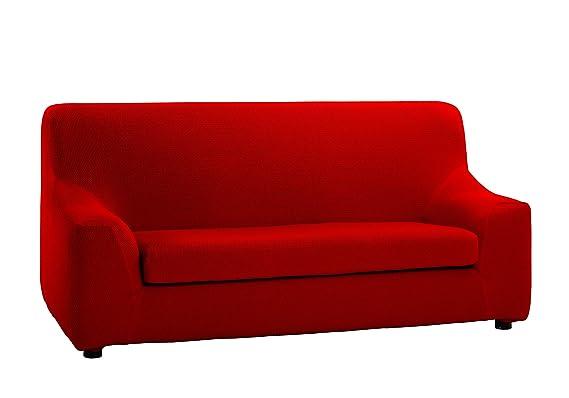 Martina Home Tunez Funda sofá Duplex, Rojo, 4 Plaza