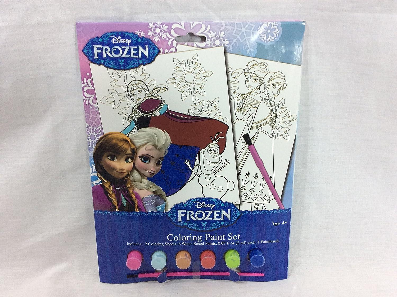 Disney Frozen 2 Painting Activity Set Includes 2 Coloring Paint Sheets 6 Paints
