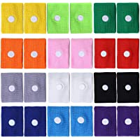 Tupa 24 Pieces Motion Travel Sickness Bands Natural Acupressure Nausea Relief Wristbands Anti Nausea Bands for Children Adult, Car Sea Flying Trip and Morning Sickness (Mixed Color A)