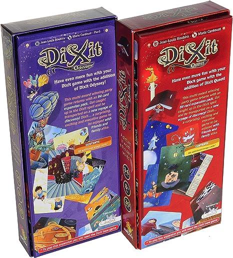 Asmodee Dixit Odyssey & Dixit Quest Expansiones_ Dos expansiones adicionales para Dixit Game _ artículos empaquetados (2): Amazon.es: Juguetes y juegos
