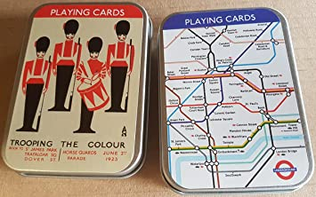 London Underground Guards Two Sets Of 52 Playing Cards In Separate