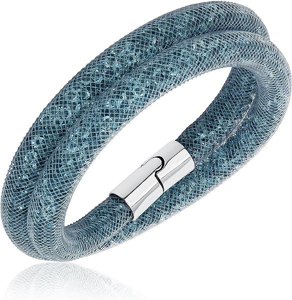 e4423d40527a2 Swarovski Stardust Dark Gray Double Bracelet Size - M 5089847