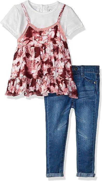 Jessica Simpson Girls Tie Dye Fashion Top and Denim Jean