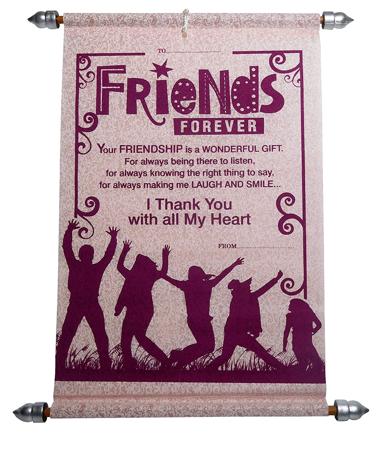Friendship Day Gifts For Best Friend Friendship Scroll Greeting Card With Cute Teddy