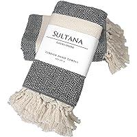 Sultana Luxury Linens - Turkish Hand Towels (Set of 4) 100% Organic Cotton | Decorative Boho Peshtemal Towel for Kitchen…