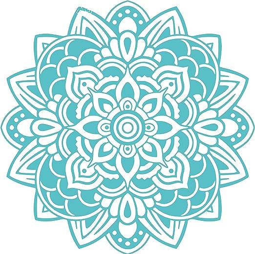 Omega Namaste Yoga Mandala 3 Vinyl Decal Sticker Quote - Large - Turquoise