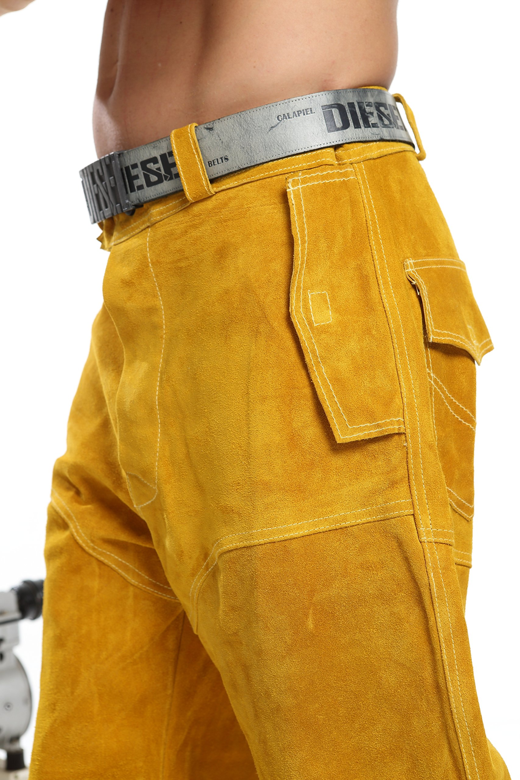 Welding protective pants   welding clothes   leather pants (L) by 安拓 (Image #3)