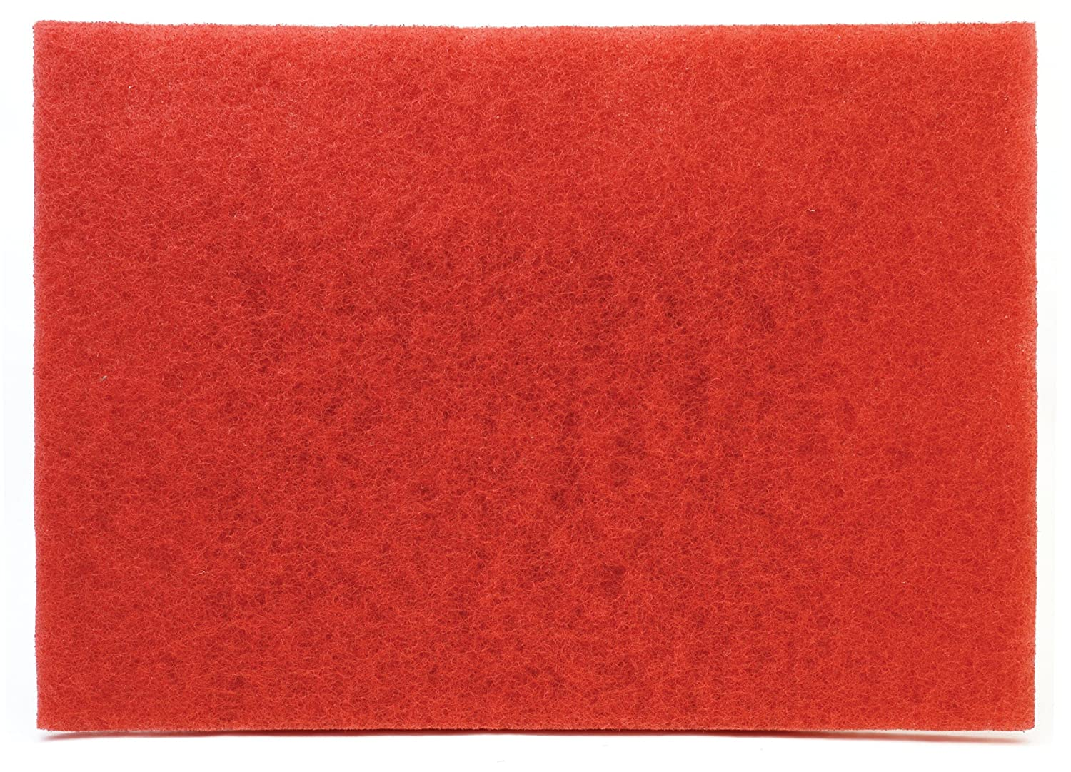 """3M Buffer Pad 5100, Red, 12"""" x 18"""" (Case of 20)"""