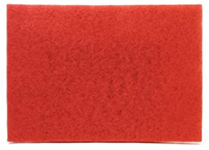 "3M Red Buffer Pad 5100, 28"" x 14"" Floor Buffer, Machine Use (Case of 10)"