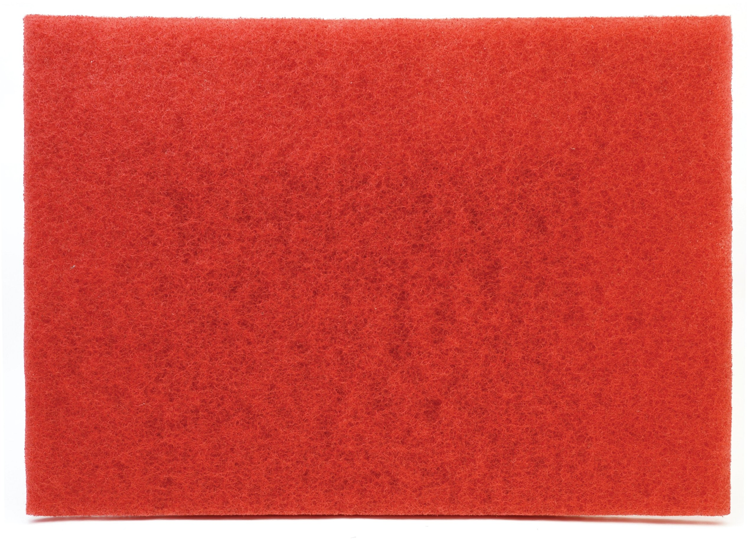3M Red Buffer Pad 5100, 28'' x 14'' Floor Buffer, Machine Use (Case of 10)