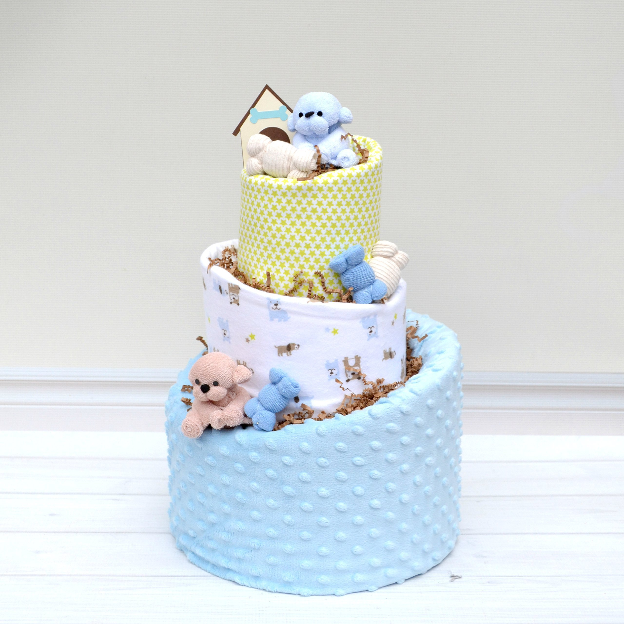 Diaper Cake for Puppy Theme Baby Shower