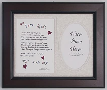 Amazon.com - Dear Daddy Picture Frame 8x10 Taupe Dad Gift From Child ...