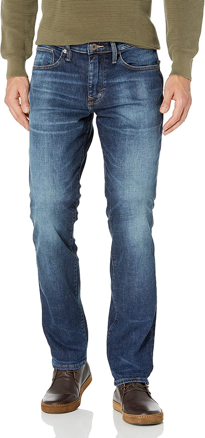 Silver Jeans Co Mens Machray Machray Relaxed Fit Straight Leg Dark Wash Jeans 36W x 34L