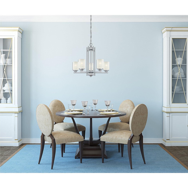 Amazon.com: Westinghouse 63441A Hansen 5 Light Indoor Chandelier ...