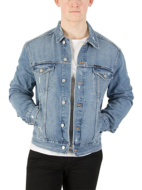 Calvin Klein Jeans Hombre Chaqueta de camionero clásica, Azul, Medium: Amazon.es: Ropa y accesorios