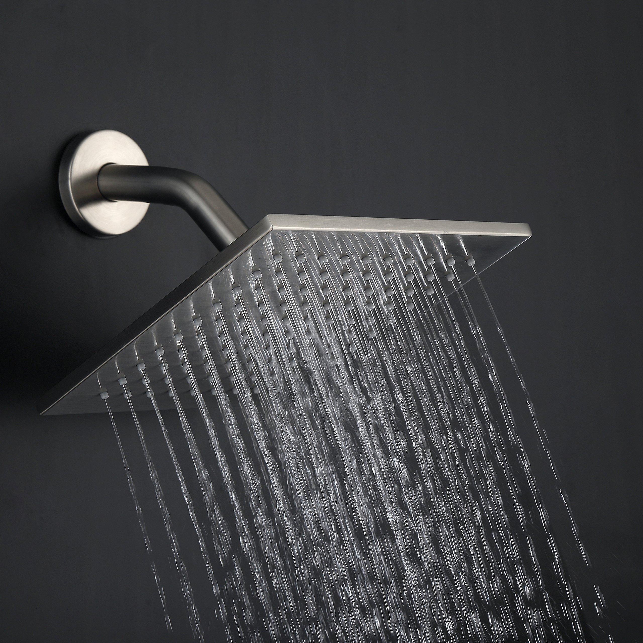 Luxury Shower Faucet All Metal Split Big Flow Rain Shower head ...